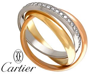 Тройное кольцо Картье с бриллиантами