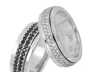 Вращающиеся кольца Piaget из белого золота с бриллиантами